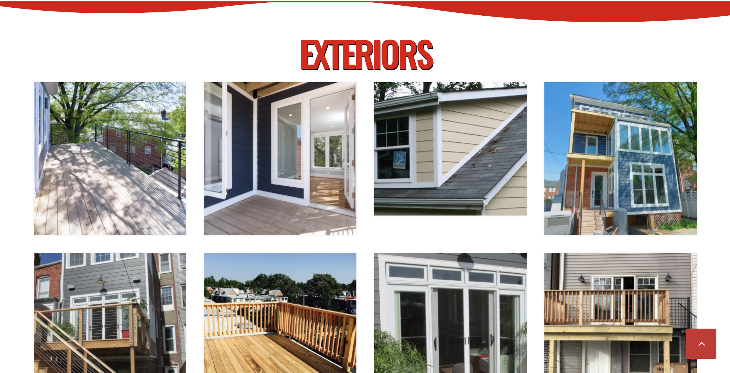 photo of images gallery of exterior photos of homes in a 4x2 grid