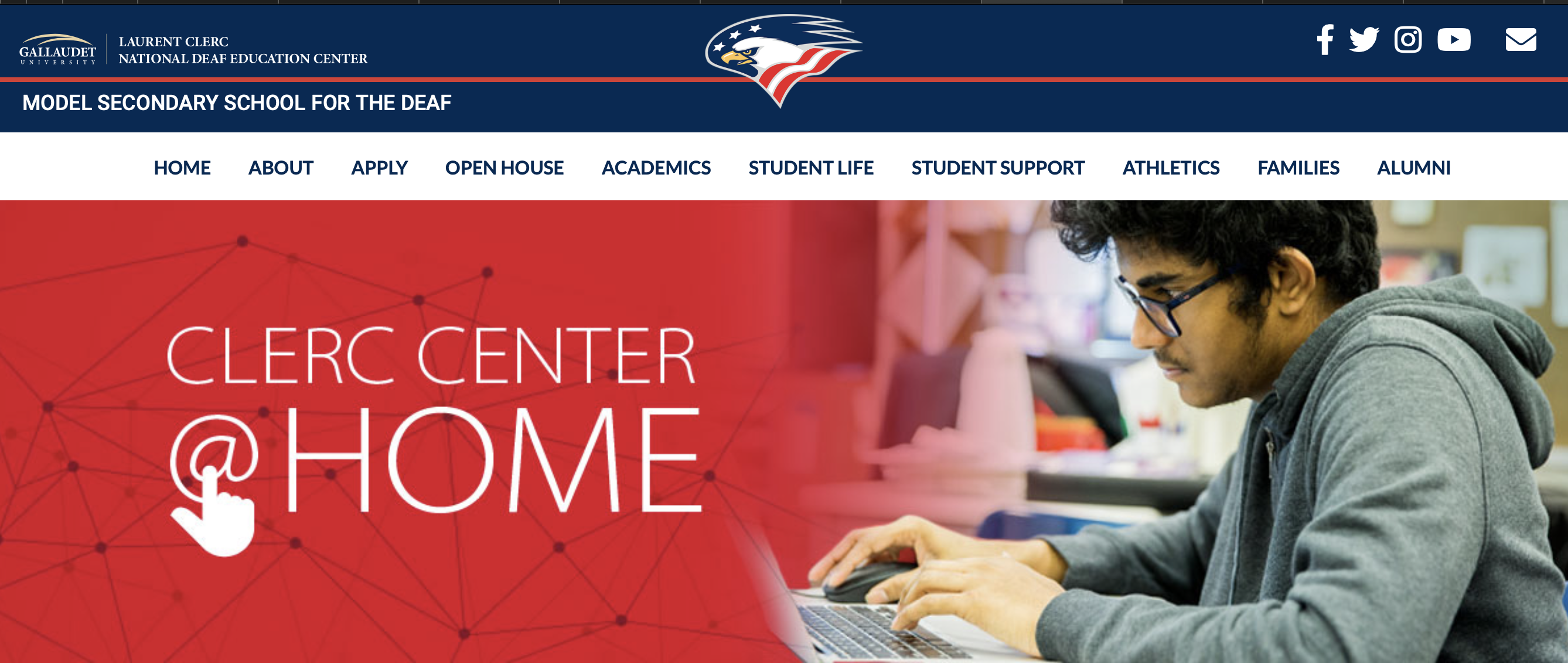 screenshot of image of MSSD website front page